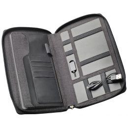 dufco Reisebrieftasche mit Powerbank, anthrazit