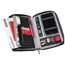 dufco Reisebrieftasche mit Powerbank, grau