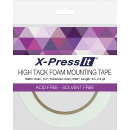 transotype X-Press It Montage-Schaumklebeband, 12 mm x 4 m
