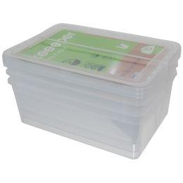 keeeper Aufbewahrungsboxen-Set bea, 3x 11,0 Liter, PP