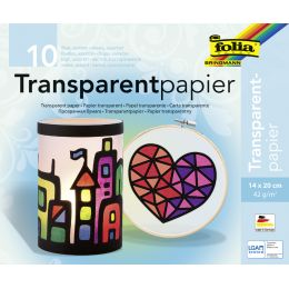 folia Transparentpapier-Bastelheft, 140 x 200 mm, 10 Blatt