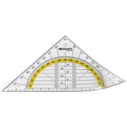 WESTCOTT Geodreieck, Hypotenuse: 140 mm, flexibel