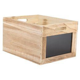 Securit Holzbox Tablecaddy, mit 2 Kreidetafelflächen