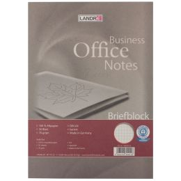 LANDRÉ Briefblock Recycling, A4, 50 Blatt, 70 g/qm, kariert