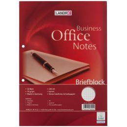 LANDRÉ Briefblock Office, A4, 50 Blatt, 70 g/qm, kariert