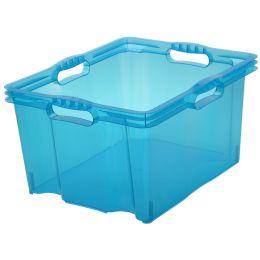 keeeper Aufbewahrungsbox franz, 24 Liter, blau