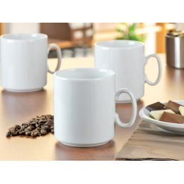 Esmeyer Kaffeebecher Diane, 6er Set, Inhalt: 280 ml, weiß