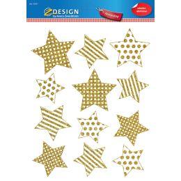 AVERY Zweckform ZDesign Weihnachts-Fensterbild Sterne gold