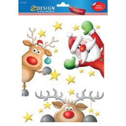 AVERY Zweckform ZDesign Weihnachts-Fensterbild Rentier