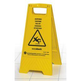 easyabsorb Warnschild Achtung Rutschgefahr, gelb