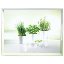 emsa Serviertablett CLASSIC, Motiv: Herbs, 500 x 370 mm