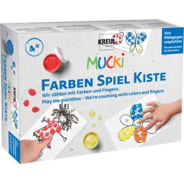 KREUL Fingerfarbe MUCKI, Farben Spiel Kiste Set