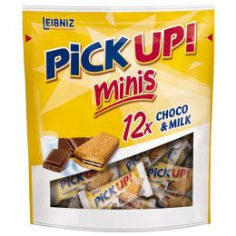 LEIBNIZ Keksriegel PiCK UP! Choco & Milch minis, Beutel