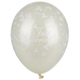 PAPSTAR Luftballons Just Married, elfenbein metallic