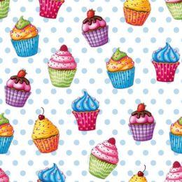 PAPSTAR Motivservietten Cupcakes, 330 x 330 mm