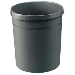 HAN Papierkorb GRIP, 18 Liter, rund, dunkelgrau