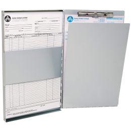 WESTCOTT Formularhalter-Box aus Aluminium, DIN A4