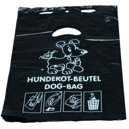 Hundekotbeutel, aus HDPE-Folie, 3 Liter, schwarz