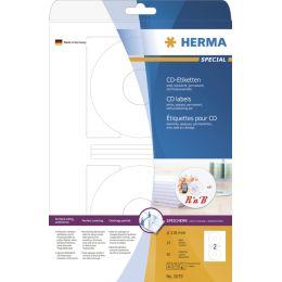 HERMA CD/DVD-Etiketten SPECIAL, Durchmesser: 116 mm, weiß