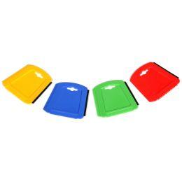 IWH Eiskratzer Trapezform, mit Gummilippe, farbig sortiert