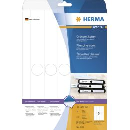 HERMA Ordnerrücken-Etiketten SPECIAL, 34 x 297 mm, weiß