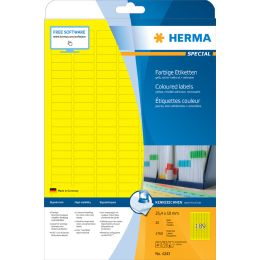 HERMA Universal-Etiketten SPECIAL, 25,4 x 10 mm, gelb