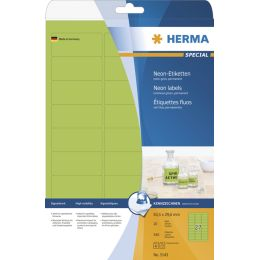 HERMA Universal-Etiketten SPECIAL, 63,5 x 29,6 mm, neon-gelb