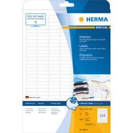 HERMA Inkjet-Etiketten SPECIAL, 25,4 x 8,5 mm, weiß
