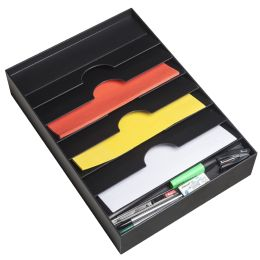 PAPERFLOW Schubladeneinsatz, 6 Fächer, schwarz