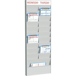 PAPERFLOW Wand-Büroplaner 20 Fächer, A5, Grundelement, grau