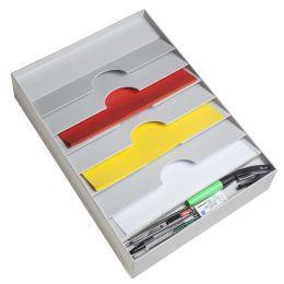 PAPERFLOW Schubladeneinsatz, 6 Fächer, grau