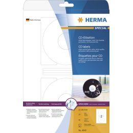 HERMA Inkjet CD/DVD-Etiketten SPECIAL, Durchmesser: 116 mm