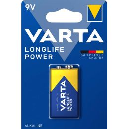 VARTA Alkaline Batterie LONGLIFE Power, E-Block (9V/6LR61)