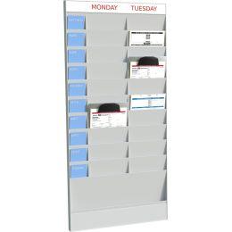 PAPERFLOW Wand-Büroplaner, 20 Fächer, A4, Grundelement, grau
