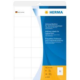 HERMA Adress-Etiketten, 70 x 42 mm, Ecken spitz, weiß