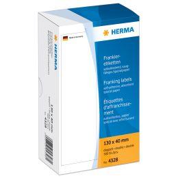 HERMA Frankier-Etiketten, 163 x 45 mm, doppelt, weiß