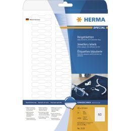 HERMA Ringetiketten SPECIAL, 49 x 10 mm, weiß
