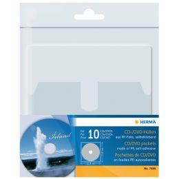 HERMA Selbstklebetasche für 1 CD/DVD, aus PP, transparent