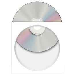 HERMA CD-/DVD-Papiertaschen, mit Fenster, weiß,