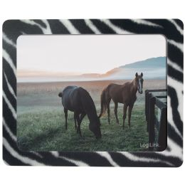 LogiLink Mauspad mit Fotoeinschub Zebra