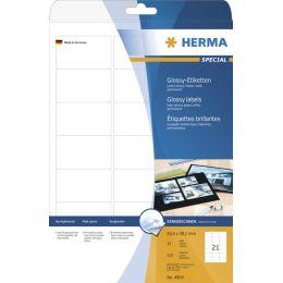 HERMA Hochglanz-Etiketten SPECIAL, 63,5 x 38,1 mm, weiß