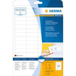HERMA Korrektur-/Abdeck-Etiketten SPECIAL, 64,6 x 33,8 mm