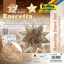 folia Faltblätter Bascetta-Stern Ornament 1, 200 x 200 mm