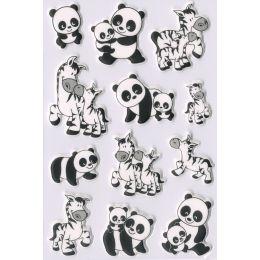 HERMA Sticker MAGIC Panda- und Zebrafamilien, Foam