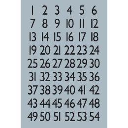 HERMA Zahlen-Sticker 1-100, Folie silber, Zahlen schwarz