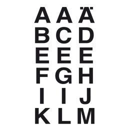 HERMA Buchstaben-Sticker A-Z, Folie schwarz, 20 x 20 mm