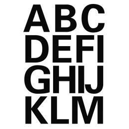 HERMA Buchstaben-Sticker A-Z, Folie schwarz, 25 mm hoch