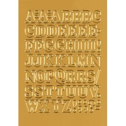 HERMA Buchstaben-Sticker A-Z, Folie gold, 12 mm hoch