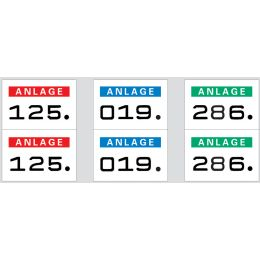 HERMA Anlagenummern, 15 x 22 mm, selbstklebend, dunkelblau