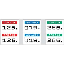 HERMA Anlagenummern, 15 x 22 mm, selbstklebend, schwarz